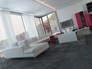 Elegant Modern Living Room with Furniture