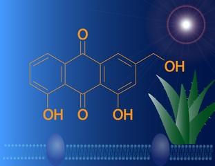 Aloe emodin molecular structure
