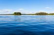 Leinwanddruck Bild - Finland lake scape at summer