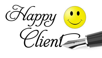 Happy Client with smiling face icon