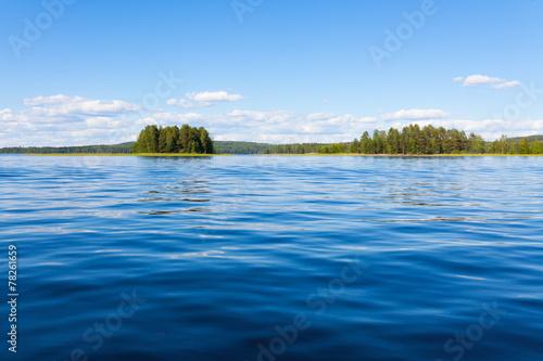 Leinwanddruck Bild Finland lake scape at summer