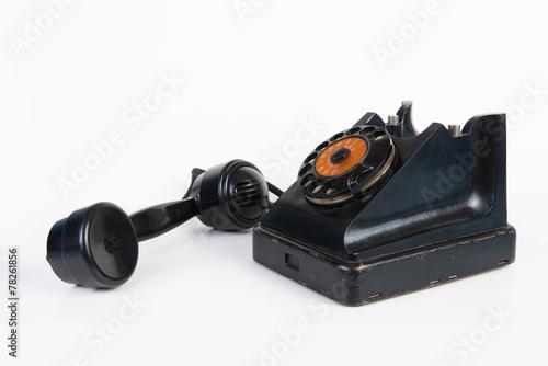 Leinwanddruck Bild The Vintage rotary telephone