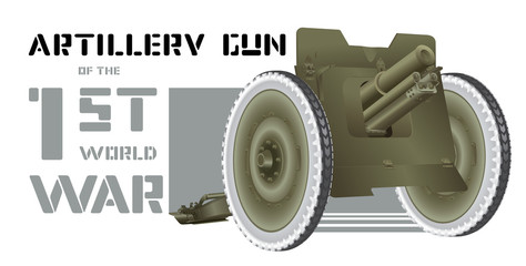 Drawing cannon of World War I