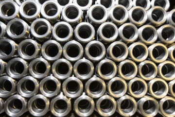 Background of steel tubes