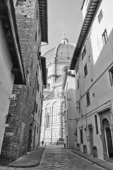 Cathedral Santa Maria del Fiore in black and white