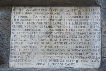 Florence Ponte Vecchio medieval inscription