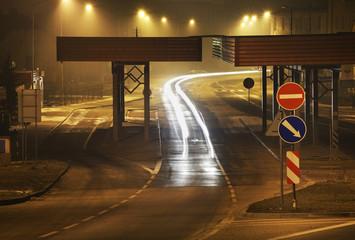 Border point in Zawidow. Poland