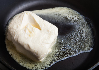 Butter in a frying pan