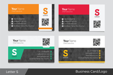 Letter S logo corporate business card