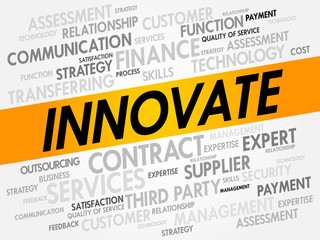 INNOVATE word cloud, business concept