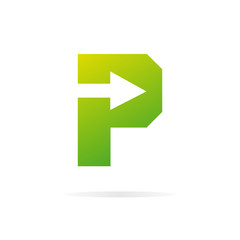 Logo P letter for company vector design template.