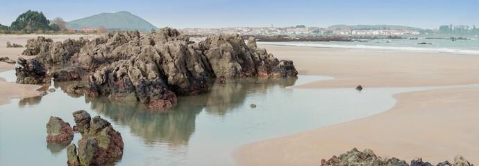 Noja Playa Trengandín panorámica
