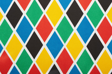 Harlequin colorful diamond pattern, background