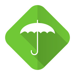 umbrella flat icon protection sign