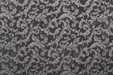 Damask, black pattern texture background