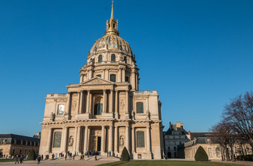 Les Invalides Palace in Paris France