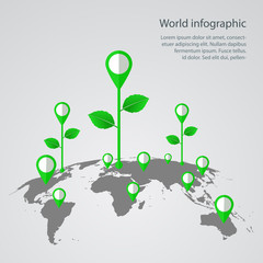 World infographic