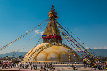 Buddhanath Temple in Kathmandu Nepal