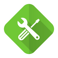 tools flat icon service sign