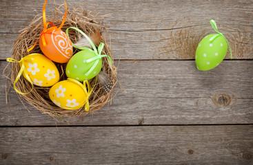 Easter eggs nest