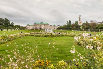 Belvedere Palace Garden in Vienna
