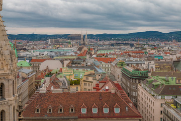 View of Viena from Cathedral Tower