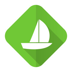 yacht flat icon sail sign