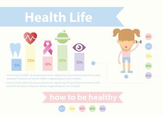 Здоровье и благополучие дизайн шаблон Фрукты для здорового