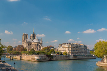Nice view of Notre Dame Cathedral of Paris