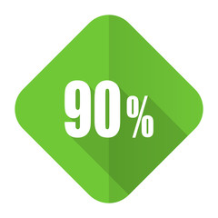 90 percent flat icon sale sign