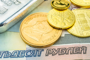russian ruble backed by gold and silver