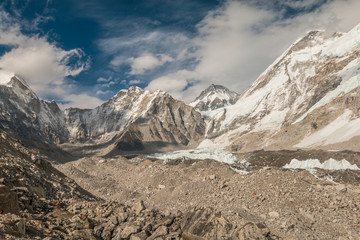 Glacier at the base of Mount Everest
