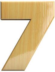 Wooden number 7 - Seven