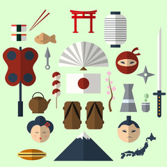 Japanese flat design icon