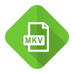mkv file flat icon