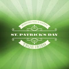 St. Patricks Day vintage holiday badge design