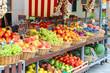 Leinwanddruck Bild - Fruit stall in the Italian city market