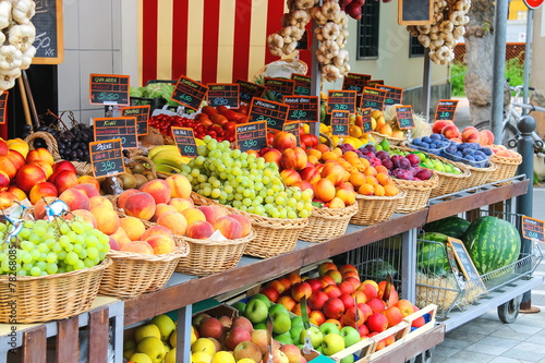 Fruit stall in the Italian city market Photo by nicknick_ko