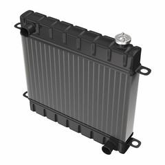 Car radiator isolated on white