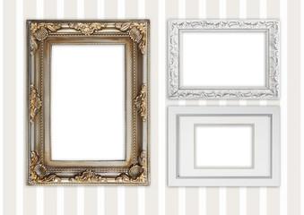 drei verschiedene Bilderrahmen