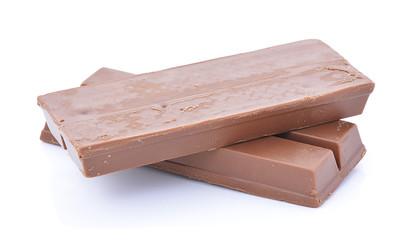 Chocolate isolate on white background