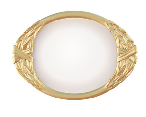 decorative oval gold frame