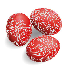 Easter Eggs - red