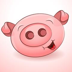 Happy Pig Icon