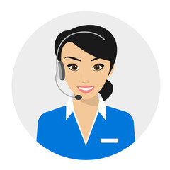 Female call centre operator