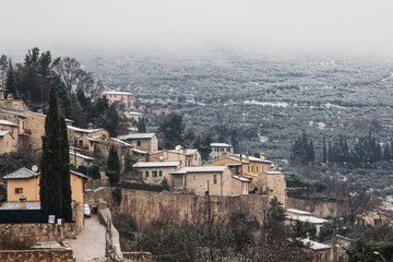 Umbria sotto la neve