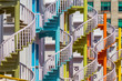 Colorful spiral stairs - 78273076