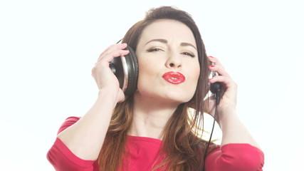 girl swinging to the music