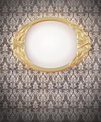 decorative oval gold frame
