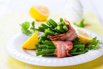 Green bean with bacon